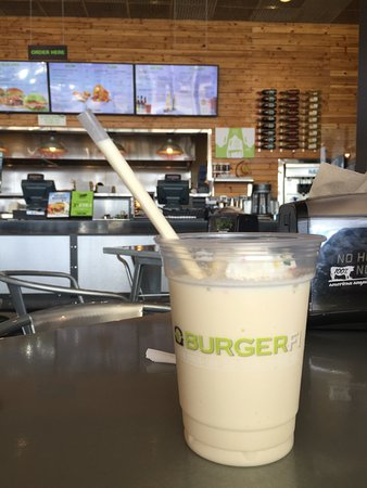 BurgerFi: A wonderful milk shake.