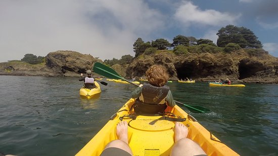 Kayak Mendocino: start with a little open water