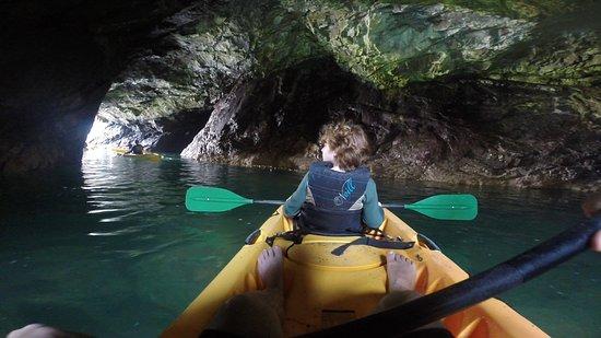 Kayak Mendocino: through coastal caverns
