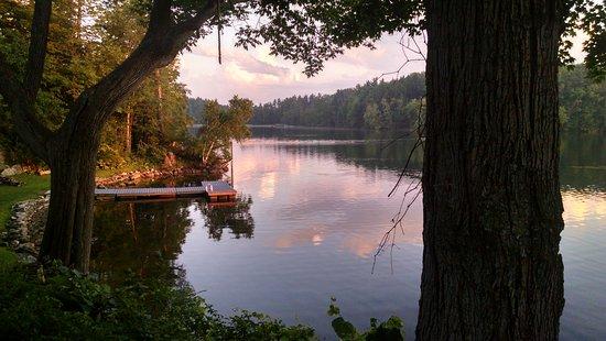 Lee, MA: Twilight over the lake