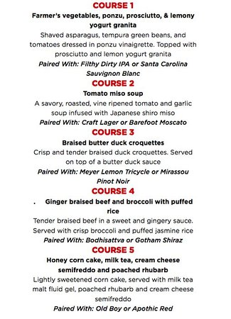 Abbotsford, Kanada: Sudo Asian Kitchen 5 Course Pairing Dinners, ALL August Long at ALL JRG Public Houses
