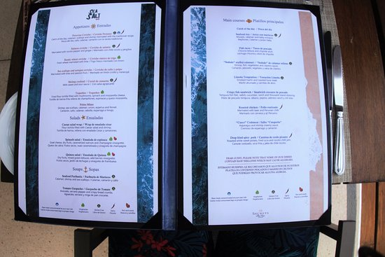 Sea Salt Lunch Menu Picture Of Secrets The Vine Cancun Cancun