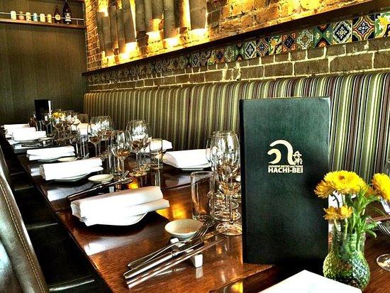 Rose Bay, Australia: Hachibei Restaurant's seating