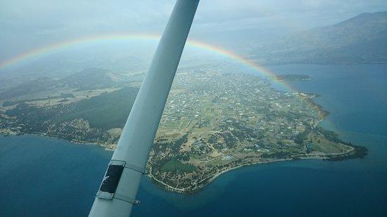 วานากา, นิวซีแลนด์: Rainbow over Wanaka