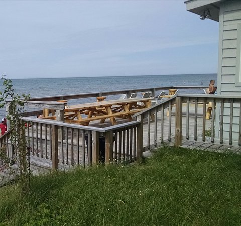 Eagle River, MI: Deck view at the Fitz