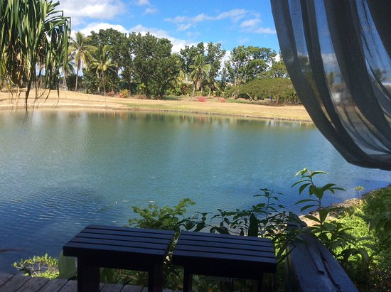 Denarau Island, Fiji: View from the burre