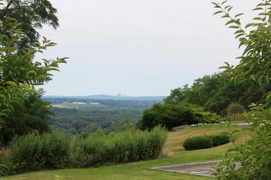 Woodcliff Hotel and Spa: View of Downtown Rochester in the distance