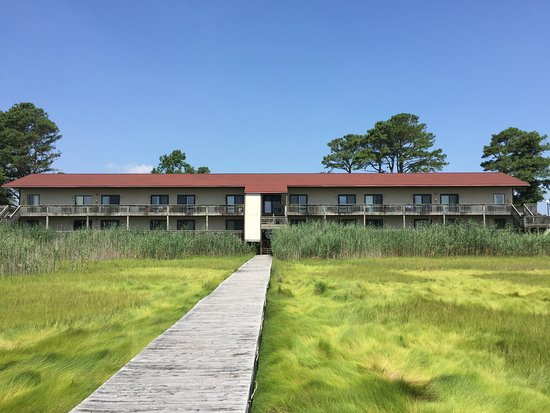 View of the Assateague Inn from the Crabbing Dock