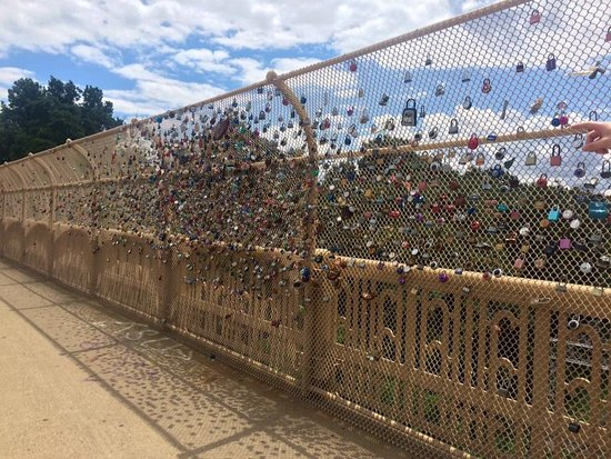 Schenley Park: Locks of Love bridge