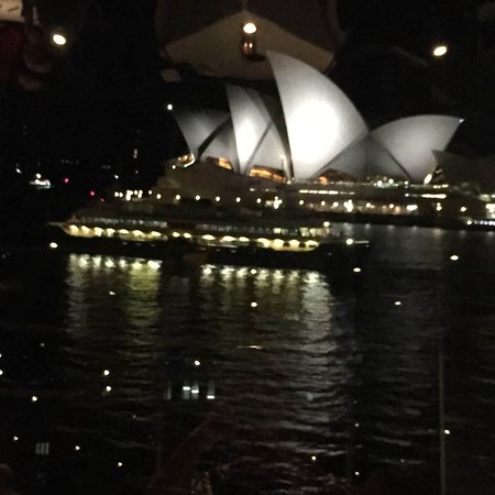 Quay Restaurant: From our table - Opera House as a ferry goes past