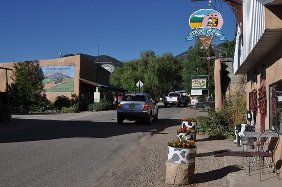 "Taos Cow in ""downtown"" Arroyo Seco"