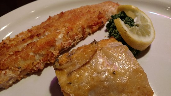Zanesville, OH: Walleyed Pike with Planko and Au Gratin potatoes