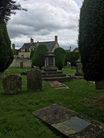 Painswick, UK: crypts and tombstones