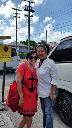 St. John's, Antigua: That's Nellie with the white blouse and her Van!