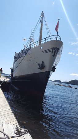 Lady Rose Marine Services: At the Sechart Lodge dock.