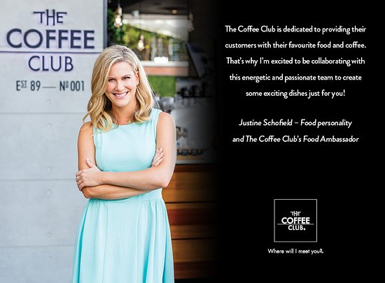 The Coffee Club : Justine Schofield, Coffee Club Ambassador