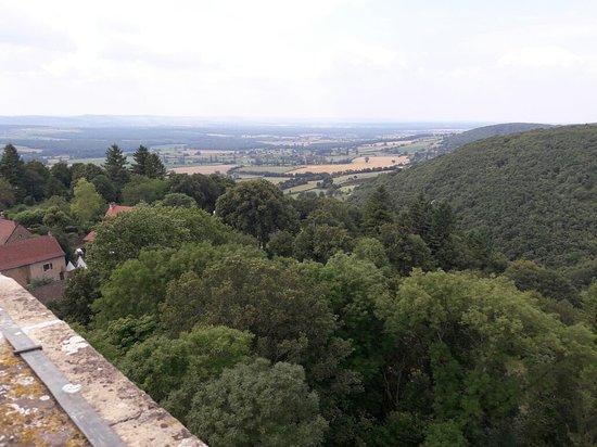 Martailly-les-Brancion, Frankrike: Vue du haut de la tour