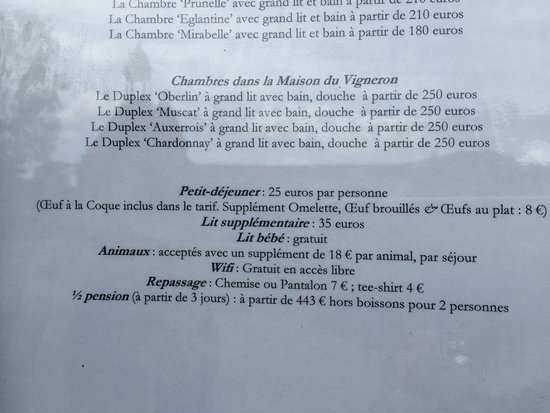 Luneville, France: supplément 8€ pour un oeuf au plat, c'est un peu cher...