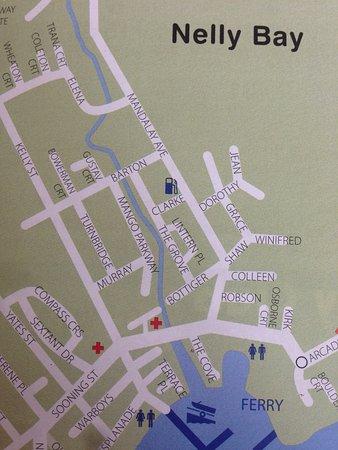 Magnetic Island, Australia: Nelly Bay Map