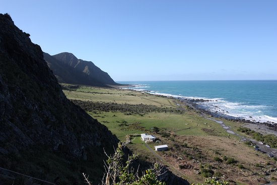 Wairarapa, Selandia Baru: View from lighthouse.