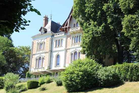 La Roche-Posay, Frankrike: achterzijde kasteel