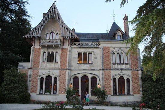 La Roche-Posay, Frankrike: voorzijde kasteel