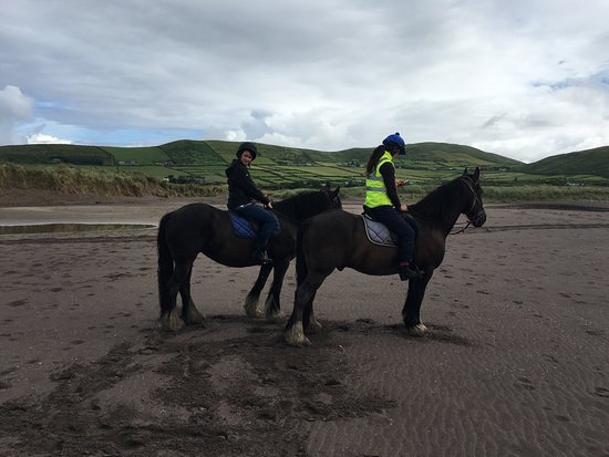 Ventry, Ireland: Entry beach with Long's Horse Riding