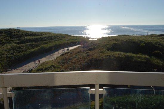 Wijk aan Zee, Nederländerna: Kamer met balkon en zeezicht