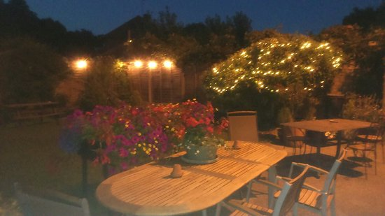 """The Ship Inn: Garden of Ospringe by night  Charity event """"Echo"""""""