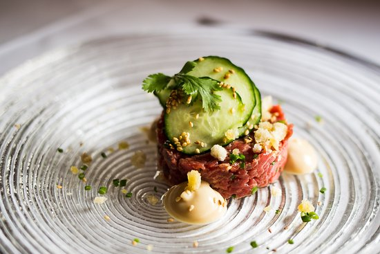 Spannort Restaurant: Beef tartar with soy mayonnaise and coriander