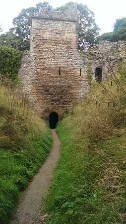Pickering, UK: There's a locked iron gate at the base of the tower