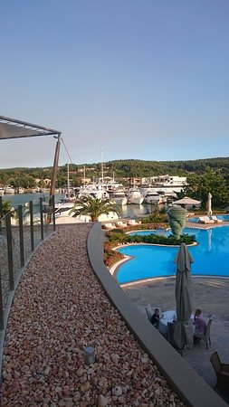 Porto Sani: View from Above The Water Restaurant at the Sani Asterias Suites