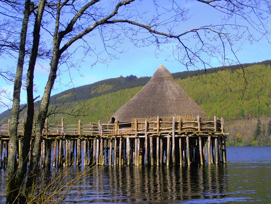 Kenmore, UK: The Crannog over Loch Tay