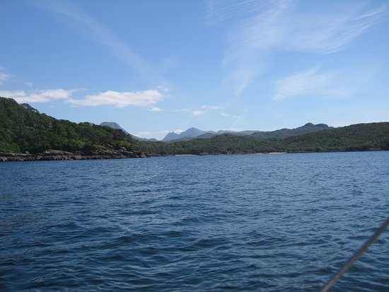 Gairloch, UK: TORRIDON MOUNTAINS VIEWED FROM BOAT