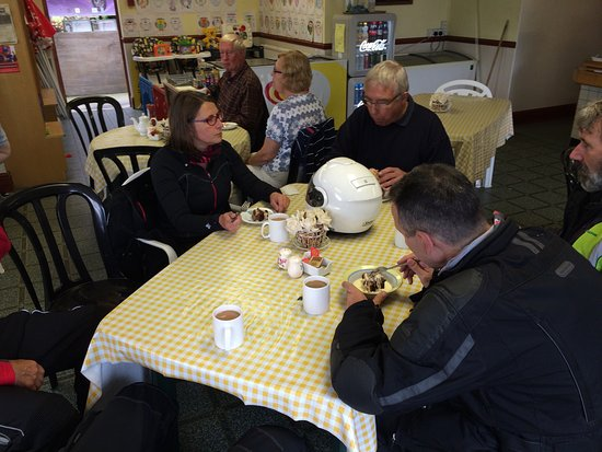 Llandovery, UK: A few of us from north Devon Rospa group were out for a days riding and pop in for food and drin