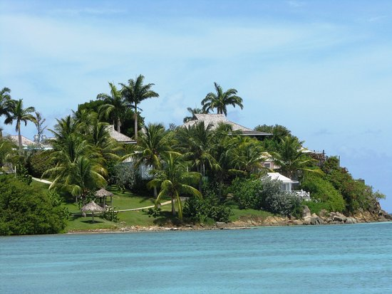 Cocobay Resort: View of CoCo Bay from Valley Church Beach. Absolutely beautiful!