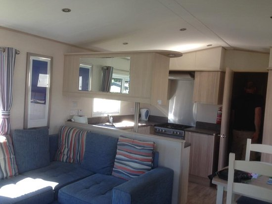 kitchen area in a prestige caravan - Picture of Weymouth Bay Holiday ...