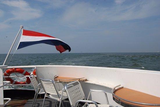 Ijmuiden, Holland: Op zee
