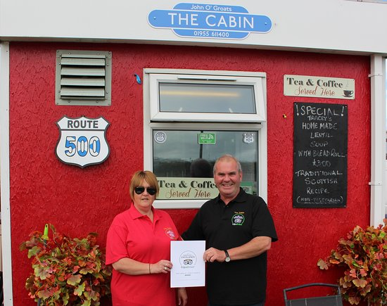 John O'Groats, UK: Certificate of excellence
