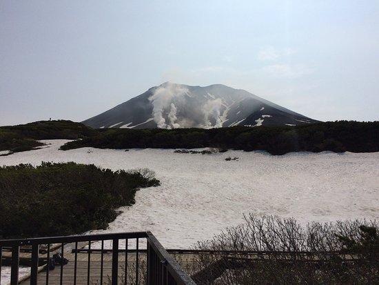 Higashikawa-cho, Japón: 旭岳のロープウエイで登ったところの展望