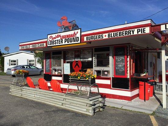 Southwest Harbor, ME: Front of Charlotte's Legendary Lobster Pound