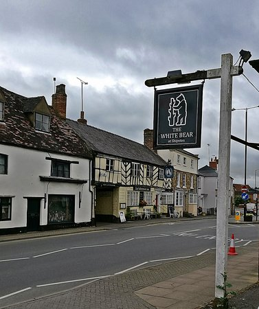 The White Bear: rear hotel sign