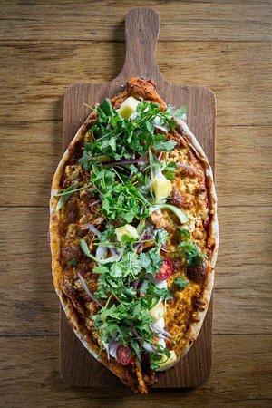 Tokai, Sudáfrica: Cajun chicken flatbread