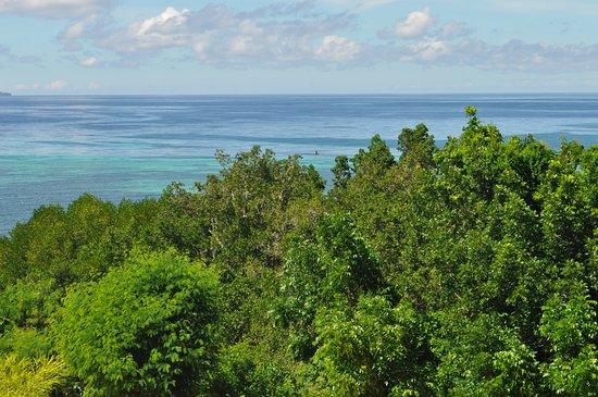 Blood Compact Monument: Bohol Sea as Backdrop
