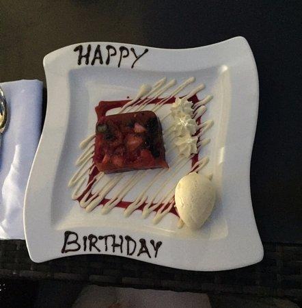 Great Dunmow, UK: My partner's birthday dessert