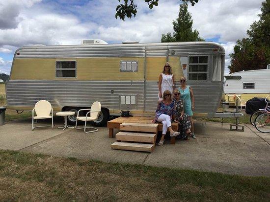 Dayton, ออริกอน: Our beautiful rented trailer.