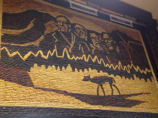 Amazing art work made from corn. A must see if you're in Mitchell, SD