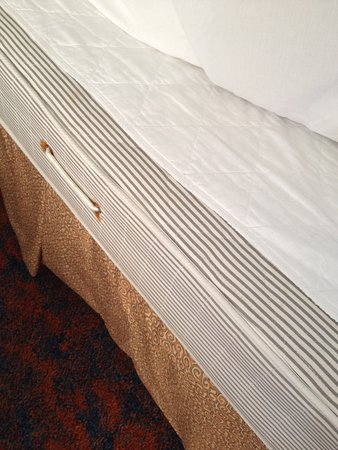 Margaree Forks, Canada: The white topping with stitching is the mattress topper.