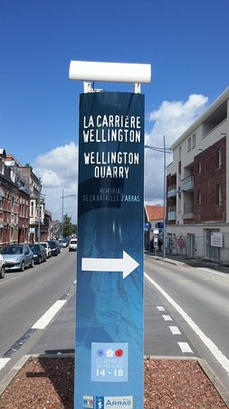 The sign on Rue Athur Deletoille, Arras