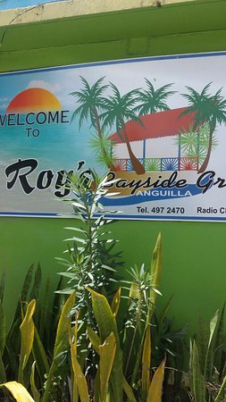 The Valley, Anguilla: signage